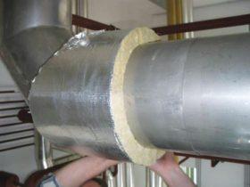 фольгированная изоляция труб базальтовая вата