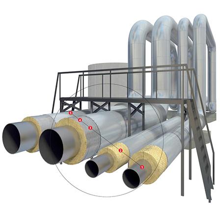 Изоляция промышленных трубопроводов большого диаметра