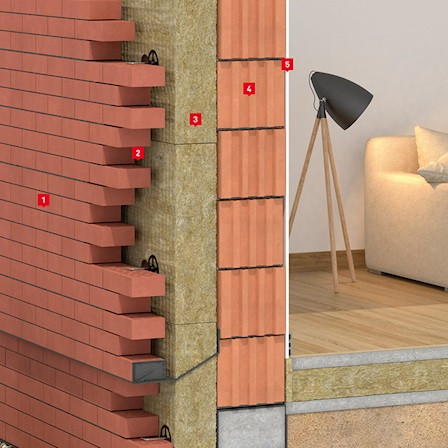 Теплоизоляция трехслойных наружных стен