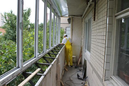 утепление балкона остекление