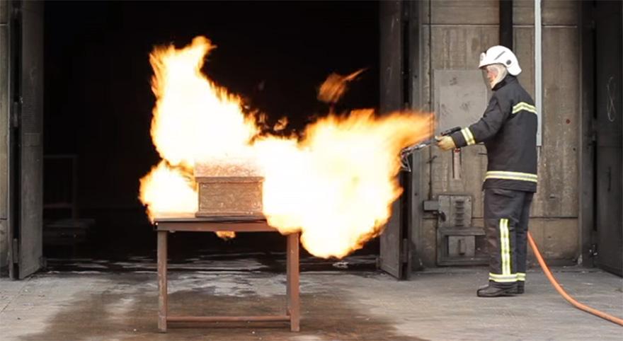 огнестойкость базальтовой ваты ROCKWOOL
