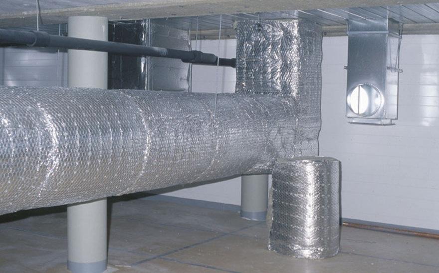 фольгирфольгований утеплювач - високотемпературна ізоляціяованный утеплитель - высокотемпературная изоляция